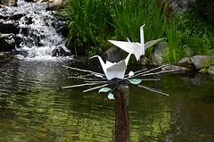 Nesting (pjpink) Tags: origami sculpture lewisginterbotanicalgarden lewisginterbotanicalgardens lewisginter gardens northside rva richmond virginia june 2018 summer pjpink 2catswithcameras