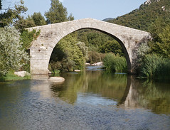 Old restored genoese bridge (Manfred_H.) Tags: landschaft landscape architecture brücke bridge historic historisch
