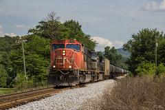 CSX K420-19 at Henry Mack Hill Rd (travisnewman100) Tags: csx train railroad ethanol unit canadian national norfolk southern ns cn emd sd75i c449w ge etowah subdivision atlanta division k420