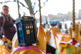 TARDIS in strange places - Merry-Go-Round