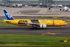 JA743A Boeing 777-281(ER) All Nippon Airways (Andreas Eriksson - VstPic) Tags: allnippon94fromosakapaintedinstar wars c3po special colours mar 2017 ja743a boeing 777281er all nippon airways