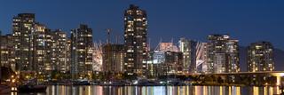 Downtown Vancouver Night Panorama