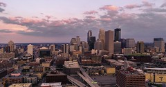 Minneapolis - Aerial Hyperlapse at Sunset (Gian Lorenzo) Tags: aerialshot architecture autumn building car city cityscape color downtown dusk establishing establishingshot evening hour hyperlapse landmark lapse light lights minnepolis nfl night nopeople panorama people rush seamlesslooping skol sky skyline skyscraper street summer sunset superbowl superbowl2018 time timelapse tourism travel twincities twins urban usbankstadium view vikings