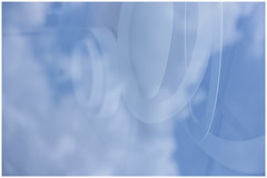 round shapes in the sky (Armin Fuchs) Tags: arminfuchs sky clouds blue bleu blau reflection white round