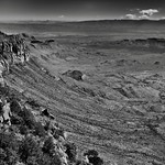 I Made It...and What a Freaking Amazing View It Was! (Black & White, Big Bend National Park thumbnail