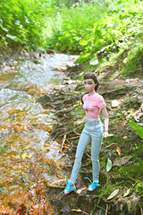 Misaki (КристинаCristina) Tags: integrity toys fashion royalty doll dollphotographer dollcollector misaki nippon mint cool poppy parker barbie forest walk sun summer