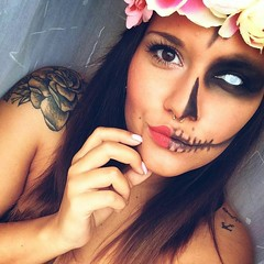 Halloween Makeup Ideas  Makeup by @l_stzki (ineedhalloweenideas) Tags: ineedhalloweenideas halloween makeup make up ideas for 2017 happy night before christmas october 31 autumn fall spooky body paint art creepy scary pumpkin boo artist goth gothic