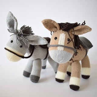 Deramores Dolly the Donkey and Bramble the Horse