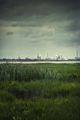 Gas Town - view from Fort Delaware (Jen MacNeill) Tags: fort delaware civilwar era history historic site american us usa oil refinery ominous