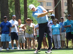 Steve Young tees off on the 7th hole (vpking) Tags: celebritygolf americancentury tahoesouth edgewoodgolfcourse southlaketahoe sanfrancisco49ers tampabaybuccaneers brighamyoungcougars