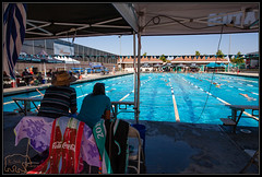Coaches looking on (K-Szok-Photography) Tags: circlecityaquatics ccaq southerncaliforniaswimming swimming swimmeet swimmers watersports competition competitiveswimming water pool socal california canon canondslr kenszok kszokphotography canon5d 5d