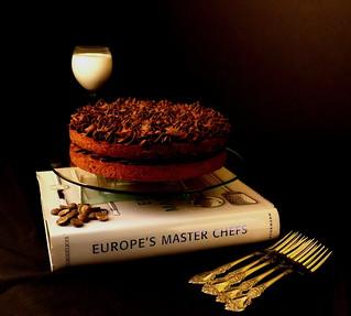 Pecan Pie Muffin Cake & Whipped Chocolate Buttercream