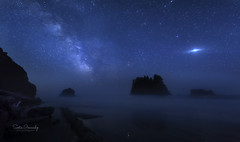 Milky Way at the Ocean. (Sveta Imnadze) Tags: nightphotography nature landscape nightsky milkyway ocean wa secondbeach olympicpeninsula
