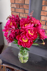 Peonies and Snapdragons 0058 (Donna's View) Tags: nikon d3300 peonies snapdragons flowers bouquet antirrhinum paeonia