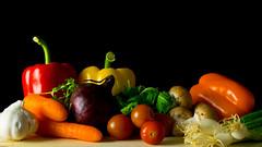 Vegetables Still Life (Andy Sut) Tags: stilllife fruit vegetables studio andysutton food edible eating dining lumix bridgecamera amateur homestudio studiolighting still