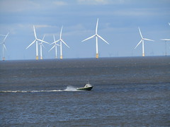 Man & The Elements (Gary Chatterton 4 million Views) Tags: sea windturbine boat elements man nature alone natural northsea power electric water flickr explore canonpowershot photography amateur