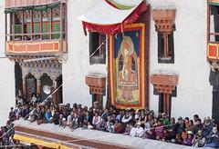 A good view (bag_lady) Tags: crowd tourism watching agoodview ladakh india hemissummerfestival2011 hemismonastery festival tradition buddhism chhamdancing maskeddances tsechu