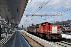 DBC 6509 met gesloten wagens, Utrecht Centraal, 21 juli 2017 (Michael Postma) Tags: db dbc dbcargo 6400 6500 6509 elektrolux dssu utrecht utrechtcentraal