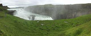 Cascada Gullfoss Dorada o de oro rio Hvita Islandia 07 panoramica