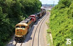 1/2 BNSF 8831 Leads NB Empty Coal Drag Kansas City, MO 7-15-18 (KansasScanner) Tags: bnsf up fxe mopac 1982 up1982 sd70mac kansascity kansas edwardsville bonnersprings loring train railroad railfanning railfan