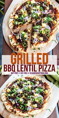 Grilled BBQ Lentil Pizza (Yack_Attack) Tags: vegan vegetarian food recipe easy blog veganyackattack pizza dinner entree bbq lentil soyfree nutfree pineapple grilled redonion cilantro jalapeño homemadedough pie summer jackiesobon foodphotographer foodstylist nikon d750