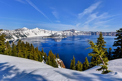 Green, White, and Blue (markwhitt) Tags: markwhitt markwhittphotography oregon usa craterlake craterlakenationalpark nationalpark usnationalpark pacificnorthwest pnw snow trees water lake crater blue white green beautiful scenic scenery snowshoeing view vacation travel adventure nature landscape