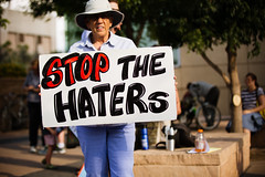 Stop the Haters (Johnny Silvercloud) Tags: freethechildren antitrump arizona civil civilrights immigrantpolicy justice latinamerican mexican people protest rally rights socialjustice sociopolitical solidarity trumpera tucson unitedstates children civic latin protestmarch protesters signs streetphotography