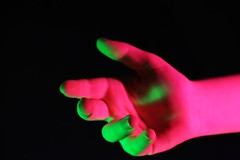 (josie.bell) Tags: pink green lighting colour shadow hand fingers palm