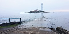 St. Mary's Island at High Tide - Whitley Bay (Gilli8888) Tags: cameraphone samsung s7 lighthouse stmaryslighthouse stmarysisland northsea sea water coast coastal seaside tyneandwear whitleybay