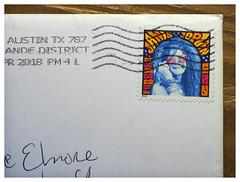 Letter from Texas (daveelmore) Tags: janisjoplin uspostage stamp letter postagestamp forever 2014 2018 elmore austin texas thepearl psychedelic corner envelope postage lumixleicadgmacroelmarit45mm