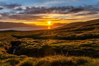 Midnight sun in Eyjafjordur