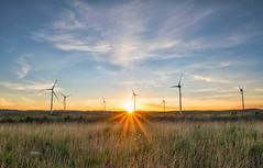 June Sunset (C. M. Ball) Tags: sunset furbo windmills nature landscape galway ireland
