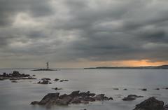 Il Mangiabarche (nicolamarongiu) Tags: landscapes paesaggio sunset longexposition mare tramonto calasetta sardegna italy faro rocce luce colori