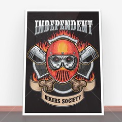 Plakaty Independent Bikers Society (nasciany) Tags: plakaty nascianypl dekoracje wall wallpaper walls plakatydekoracyjne ilustracja posters print decor decortion art homedecor home homesweethome interiordesign decorations interior design walldecor walldecoration homedesign printablewallart decorativeposter wystrojwnetrz illustration
