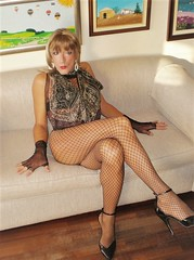 Karen (Karen Maris) Tags: karen tg tgirl tgurl transvestite transsexual transgender pantyhose tights heels blonde fishnets stilettos sheer tranny trannie crossdress crossdresser