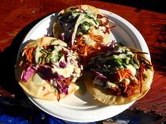 atomic tacos: bbq jackfruit with bomb sauce (citymaus) Tags: untz festival 2018 mariposa county fairgrounds california musicfestival art food booth booths vendor vendors vegan govindas veggie bomb taco tacos jackfruit bbq