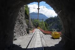 RhB - Mistail Tunnel Tiefencastel (Kecko) Tags: 2018 kecko swiss switzerland schweiz suisse svizzera graubünden graubuenden gr tiefencastel mistail rhätischebahn rhaetian railway railroad bahn viafierretica rhb eisenbahn albula mistailtunnel tunnel baustelle construction site europe swissphoto geotagged geo:lat=46666800 geo:lon=9560220