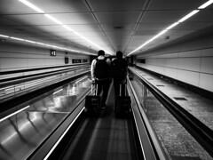 Passengers (Lea Ruiz Donoso) Tags: aeropuerto barajas airport madrid spain españa bw blackandwhite blancoynegro hx350 sony 2018 pasajeros passenger candid urbanlife luggage learuizdonoso learuizdonosophotography