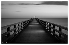 Seebrücke Schönberger Strand (Germany) (bachmann_chr) Tags: seebrücke strand küste ostsee schleswigholstein coast sonnenaufgang beach sunrise deutschland germany sightseeing nikon d750 blackwhite black white