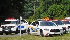 Newburgh/New Windsor Line, New York (Steve Rollo) Tags: police car cops k9