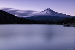 (Masako Metz) Tags: mthood trilliumlake oregon pacific northwest landscape water nature sky clouds tree forest evening