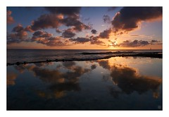 sunset3 (Hamilton Ross) Tags: seascape reflection water pacific ocean okinawa sunset sky orange blue