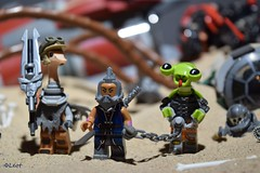 Bounty of the Afterlands (-Leot-) Tags: leot lego syfy scifi baby afterlands brick minifig minifigure alien space war toy capture bound prisoner planet they love