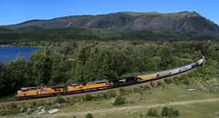 UP 5511 ~ Moyie Lake (Chris City) Tags: train railway railroad mainline grain lake cpr uprr ns interchange border