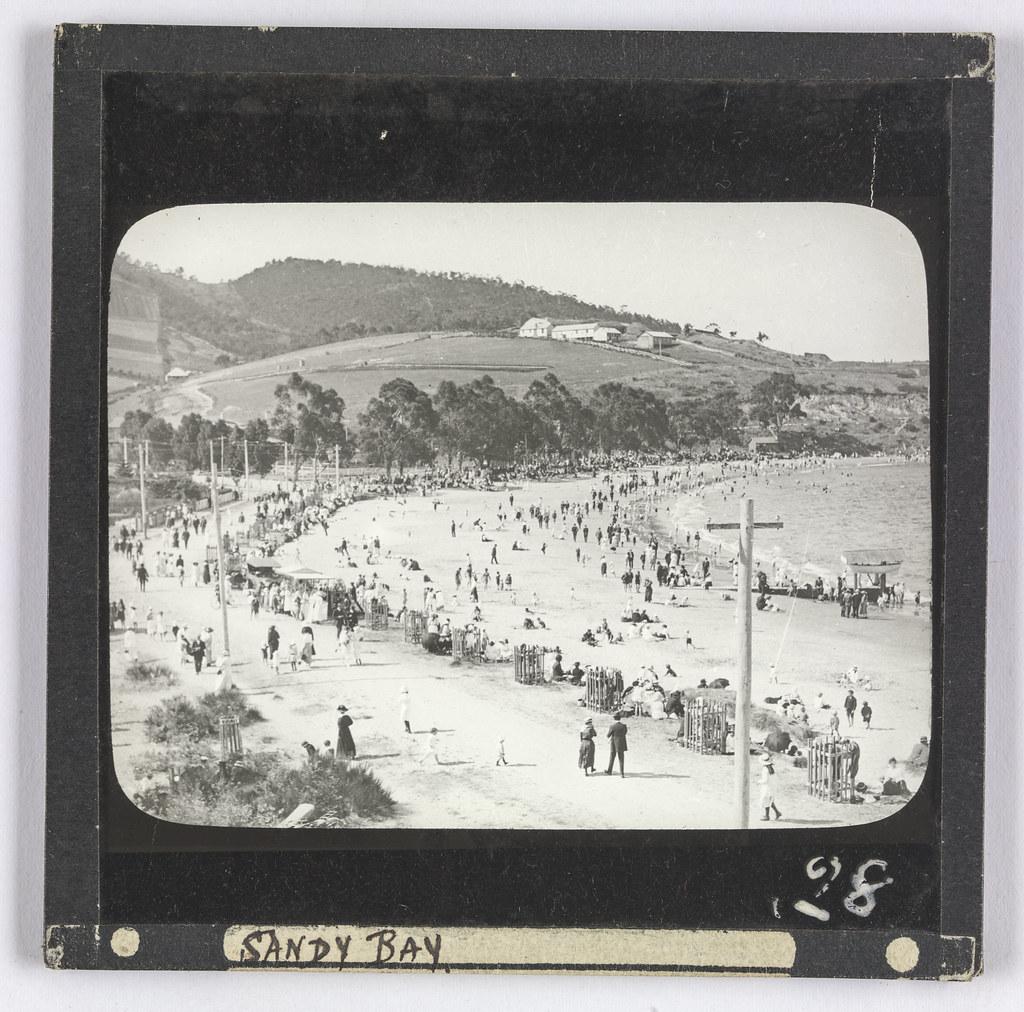 Sandy Bay Beach, Tasmania (c1895)