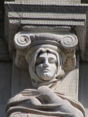 Mysterious Woman Dame Winter Caryatid NYC 5432 (Brechtbug) Tags: stone ladies courthouse roof statues across from madison square park new york city caryatid atlantid 2018 nyc 07152018 art architecture gargoyle gargoyles statue sculpture sculptures facade figures column columns court house law government building lady women woman figure form far east buildings mysterious dame winter seasons