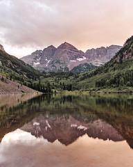 Maroon bells (Tanner Wendell Stewart) Tags: ifttt 500px valley peak mountain lake range alpine dolomites peyto moraine ridge ten peaks rolling landscape maroon bells colorado
