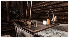 Cowboy Bubble Bath (frankieedon) Tags: second life cowboy bath hat whisky beans