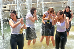Seen lots of champagne here (misi212) Tags: champagne fountain wet dresses