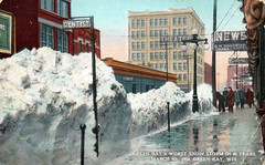 Green Bay's Worst Storm in 40 Years - Green Bay, Wisconsin (The Cardboard America Archives) Tags: wisconsin cityinruins vintage postcard disaster